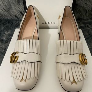 GUCCI *NEW* *AUTHENTIC* GG Marmont Fringe Pumps